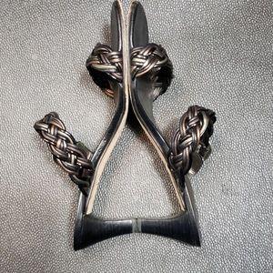 Brighton 'FIJI' Black leather, size 9.5 M Sandals